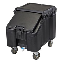 Cambro ICS175LB110 Black SlidingLid Short Ice Caddy