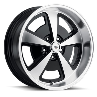 109 Classic Series Magnum 17x9 5x120.65 - Machined/Gloss Black