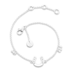 Daisy London Good Karma Bracelet, Horseshoe