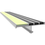 Lume-A-Lite Ribbed Bar Abrasive Stair Tread + Nosing