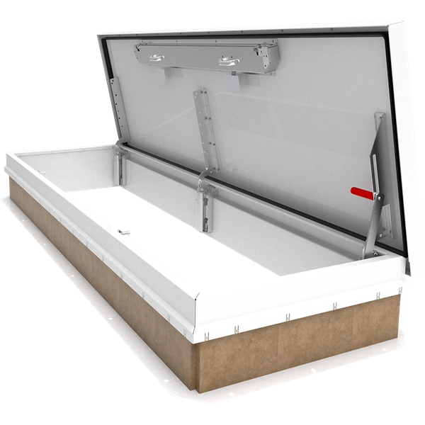 white 30 x 96 personnel roof hatch steel - Roof Hatch