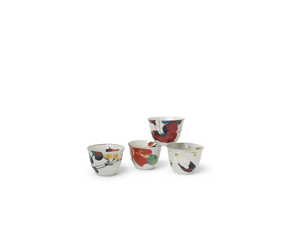 Floral Fall 7 Oz. Teacup Set