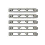2007-18 Jeep JK Silver Slot Style Door Handle Inserts.Set of 5