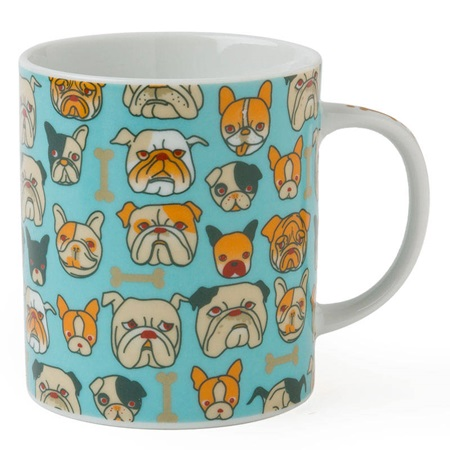 BULLDOG 8 OZ. MUG - LIGHT BLUE
