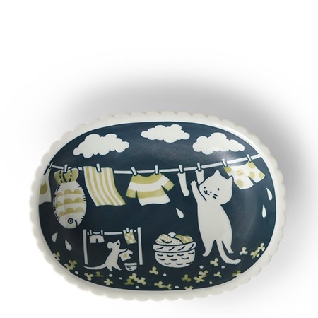 Cat Life Oval Plate