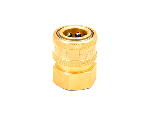 "MTM Hydro 1/2"" Female NPT Brass Quick Coupler"
