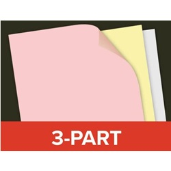 8.5 X 11 3 PART CARBONLESS PAPER, PINK/YELLOW/ WHITE, CM131-5, 5000/CS