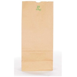 25# GROCERY BAG, 8-1/4 X 5-1/4 X 18, DURO