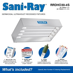 Sani•Ray RRDHO30-4S Included Accessories