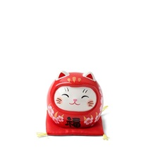 Daruma Fortune Cat Figurine