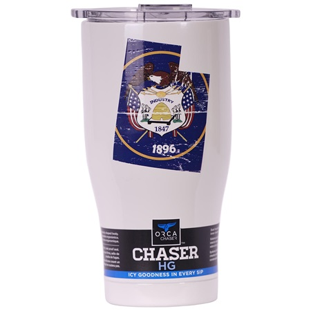 Utah State Flag Distressed Chaser 27oz