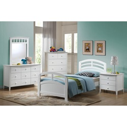 19150T-KIT SAN MARINO WHITE TWIN BED HF/R