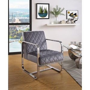 59812 GRAY ACCENT CHAIR