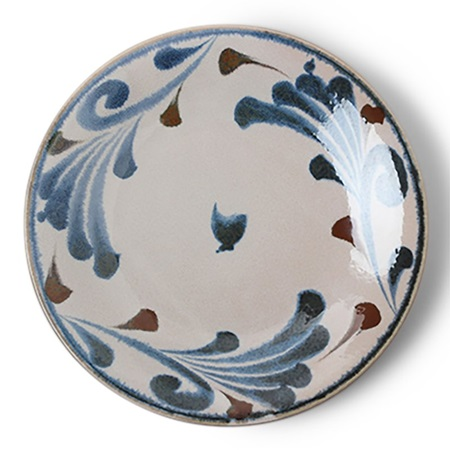 "Rustic Blue Vines 11"" Plate"
