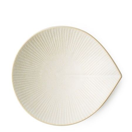"Moa Leaf 5"" X 4.5"" Plate - Yellow"