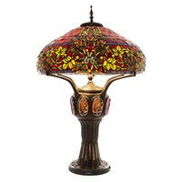 Double Lit Table Lamp - Red