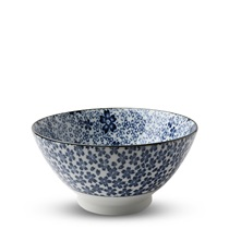 "Blue & White Sakura 7"" Noodle Bowl"