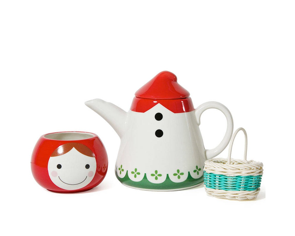Little Red Tea Set