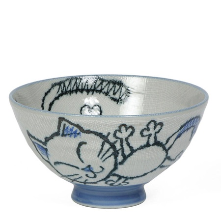 "Blue Cat 5"" Rice Bowl"