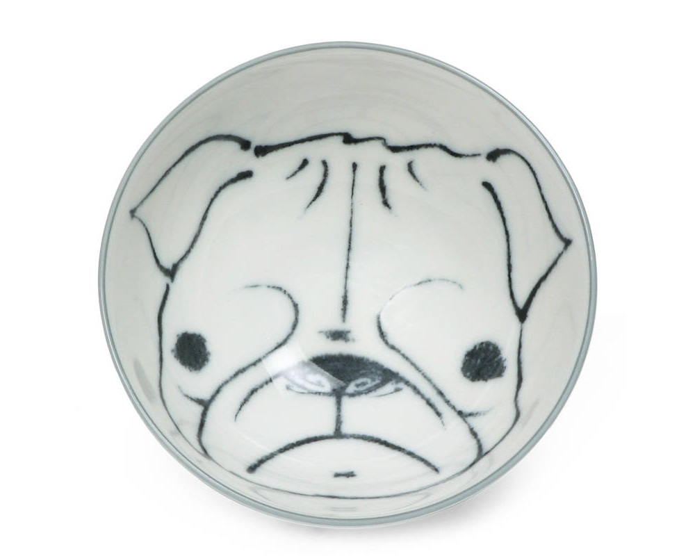 "Dog Days 4.5"" Rice Bowl - Pug"