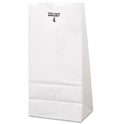 4# WHITE GROCERY BAG, 5 X 3-1/8 X 9-3/4,