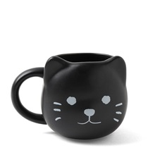 Animal Face Mug Black Cat