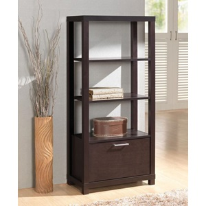 92065 BOOKCASE W/3 SHELVES & DOOR