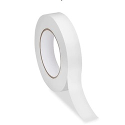 "1.5"" X 50 YARD .5 MIL WHITE DOUBLE COATED TISSUE TAPE, 32/CS DC4210RS-1.5"