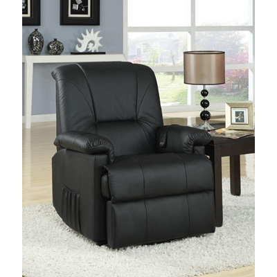 10650 BK PU RECLINER W/LIFT&MASSAGE