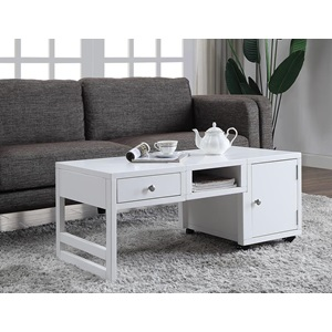 81185 WHITE COFFEE TABLE