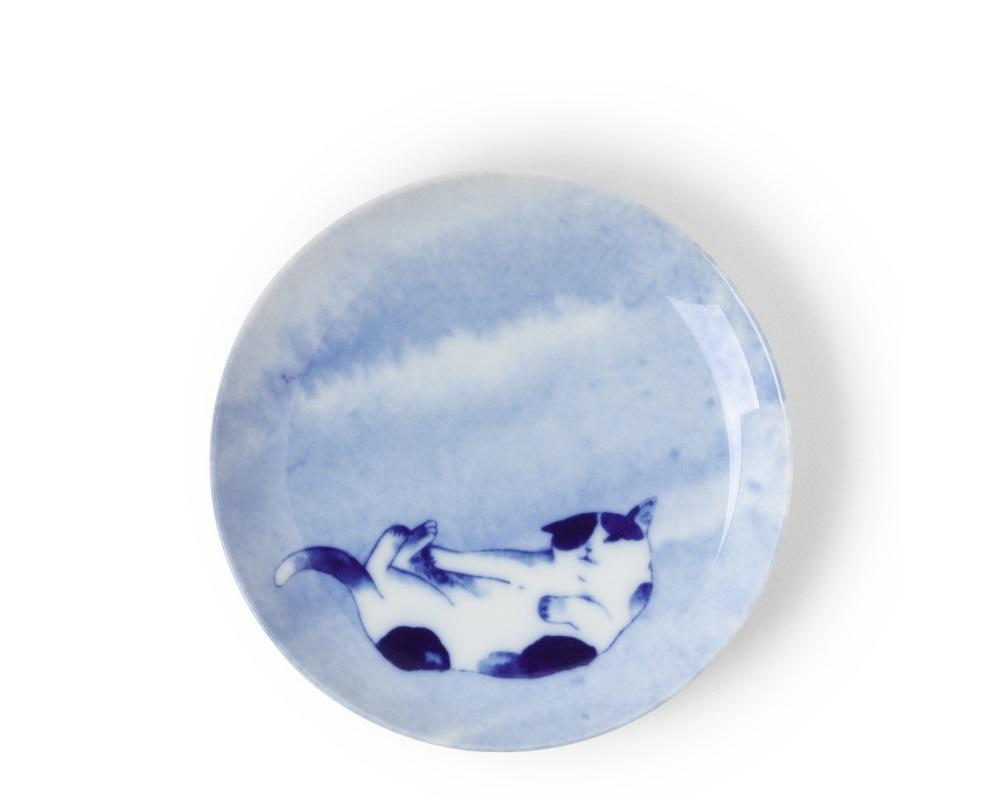 Blue Cat Playing Plate
