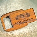 Engraved Teak Pocket Salt Box