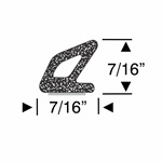Peel-N-Stick Medium Hollow Triangular Seal - per ft, 5ft, 10ft, 15ft and 30ft