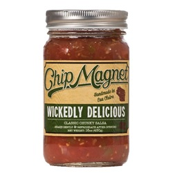 Chip Magnet Salsa, Wickedly Delicious (Hot, Vinegar Free) - 16 oz