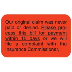 Insurance Carrier Collection Labels