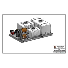 CAD drawing 300/200/100 Gallon Triple Tank Sprayer Skid