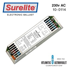 Ballast: Electronic 220-240v AC, 2-Lamp 1-Lamp Instant, 70W each 50/60Hz