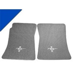 Custom Full-Size Carpet Floor Mats (Bright Blue)