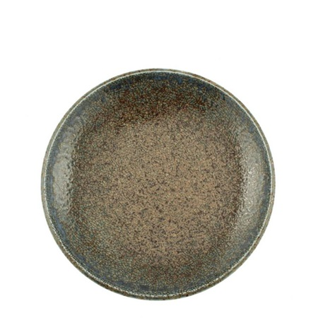 Blue Sand Crackle Plate 7-3/4""