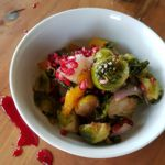 Colorful Roasted Winter Veggies with Pomegranate Sauce