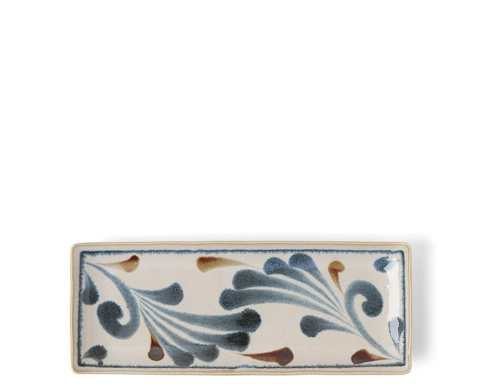 Rustic Blue Vines Rectangle Plate