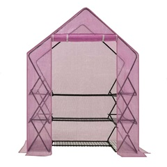 9 Shelf Pop-Up Greenhouse With Lilac Premium Pe Cover