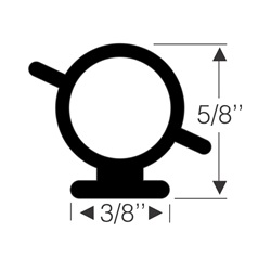 Tabbed Round Pedestal Seal