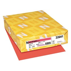 8.5 X 11 24 LB ROCKET RED ASTROBRIGHTS COPY PAPER, 22641, 500/RM