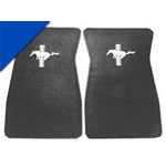 Embroidered Carpet Floor Mats (Bright Blue)