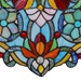 "19""H Tiffany Style Butterfly Fleurs Panel"