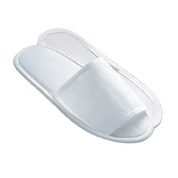 Disposable Paper Slippers, Open Toe White