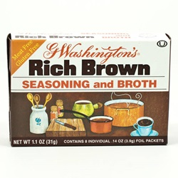 G. Washington Seasoning & Broth, Rich Brown - 1 oz