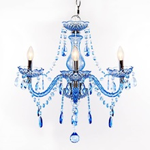 "17.5""H 3-Arm Chandelier"