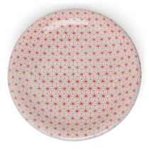 "Asanoha Colors 10"" Plate - Red"